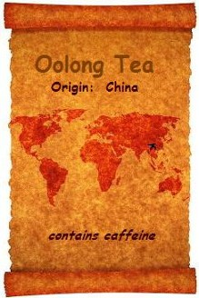 Our organic Oolong Tea has it's origins in China as shown on an old World Map.  Organic Teas Canada's  Oolong is an inexpensive beverage which appeals to the tastes of both the green and black tea drinker.