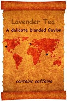 Custom blend of Organic Teas Canada with an international flavour as detailed on an old world map.  An organic Ceylon with delicate organic lavender flowers and a hint of organic lemon.
