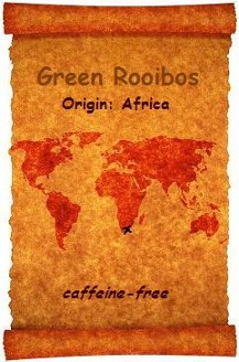 Green Rooibos Tea is a product of Africa and is an excellent alternative to caffeine laden beverages.  This flavourful organic and fair trade tea is of excellent quality and available at Organic Teas Canada.