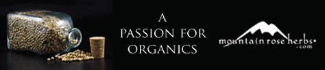 Mountain Rose Herbs banner Passion for Organics